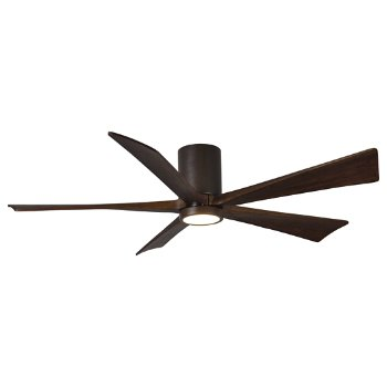 Shown in Textured Bronze finish with Walnut blades, 60 inch with light cap
