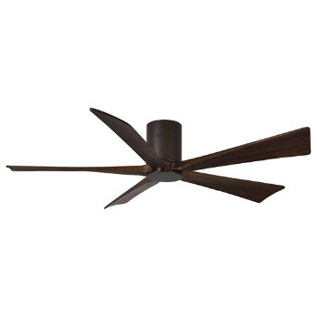 Shown in Textured Bronze finish with Walnut blades, 60 inch without light cap