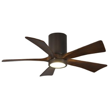 Shown in Textured Bronze finish with Walnut blades, 42 inch with light cap