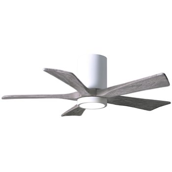 Shown in Gloss White finish with Bran blades, 42 inch with light cap
