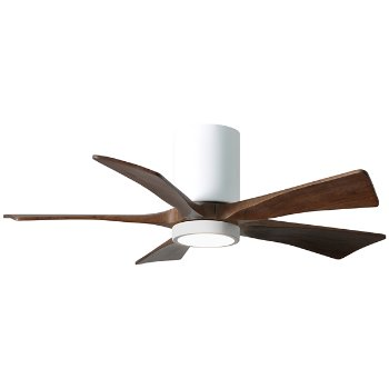 Shown in Gloss White finish with Walnut blades, 42 inch with light cap