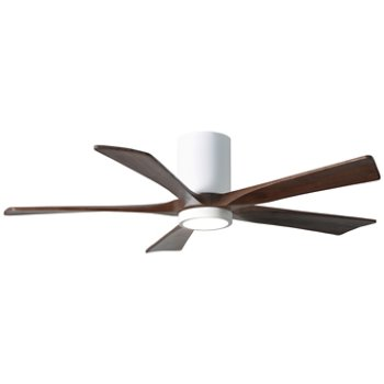 Shown in Gloss White finish with Walnut blades, 52 inch with light cap