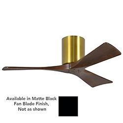 Irene Flushmount 3 Blade Ceiling Fan(Blk/Bras/42In)-OPEN BOX