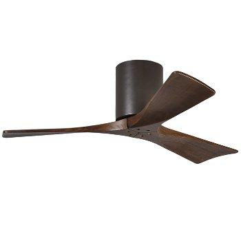 Shown in Textured Bronze finish, Walnut blades, 42 Inch