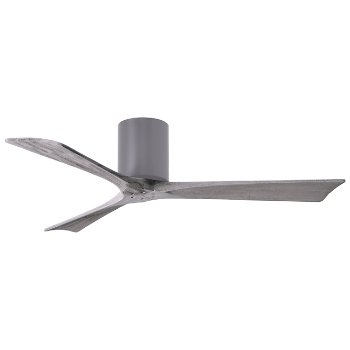 Shown in Brushed Nickel finish, Barn Wood blades finish, in use