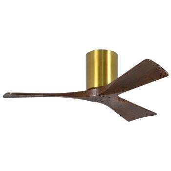 Shown in Brushed Brass finish, Walnut blades, 42 Inch
