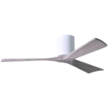 Shown In Gloss White Finish With Barn Wood Fan Blades