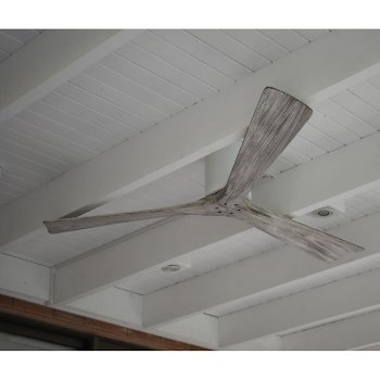 Shown in Gloss White finish, Barn Wood blades finish, in use