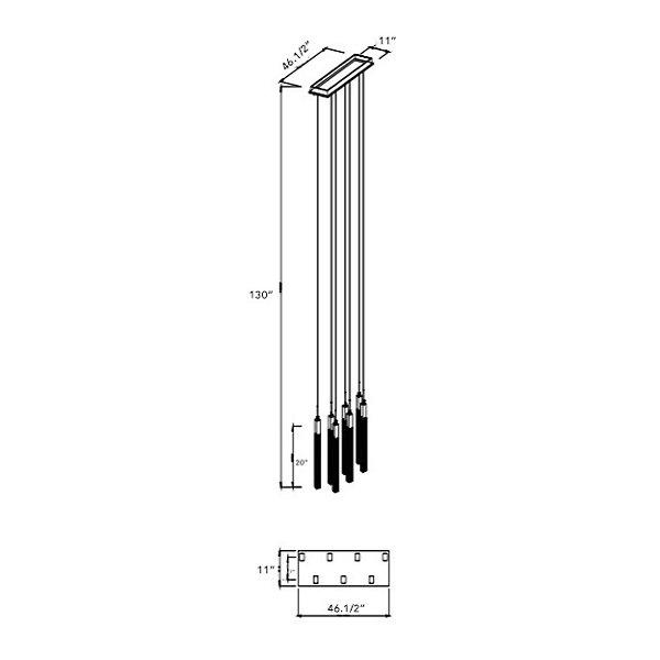 Boa HF1900 Square Multi-Light Pendant