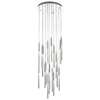 Shown in Polished Nickel finish, 21 Light