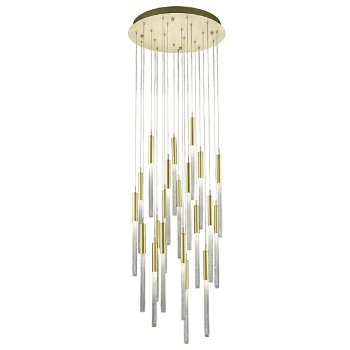 Shown in Brushed Brass finish, 21 Light