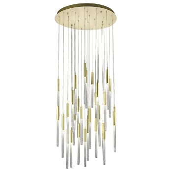 Shown in Brushed Brass finish, 31 Light