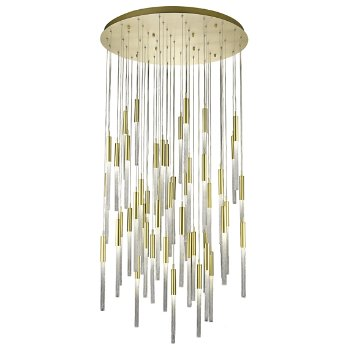 Shown in Brushed Brass finish, 51 Light