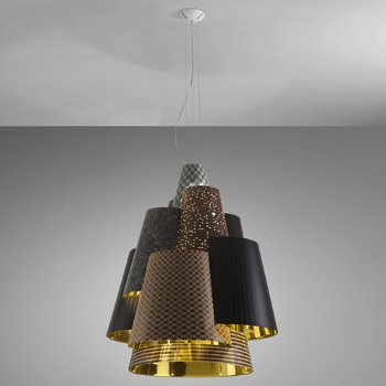 Shown in Dark Patterns/Gold finish, Large size