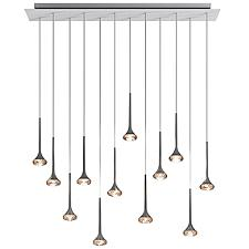 Fairy LED Multi-Light Linear Chandelier
