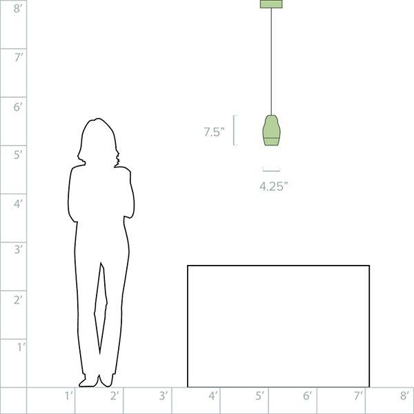 Fedora LED Pendant