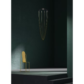 Shown in Anthracite Grey / Brass finish, Extra Large size, lit , in use