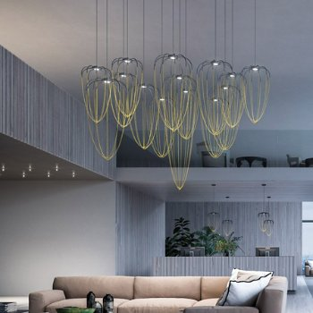 Alysoid LED Pendant collection, in use