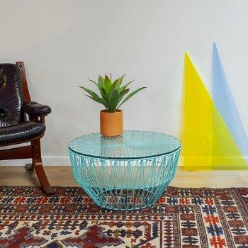 Shown in Aqua finish, in use