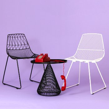 Lucy Stacking Chair, in use