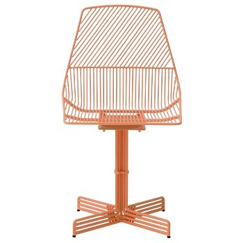 Shown in Peachy Pink finish, front view