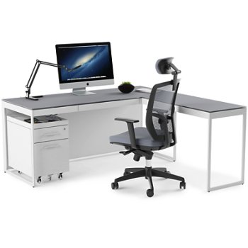 Centro Desk with Centro Multifunctional Cabinet