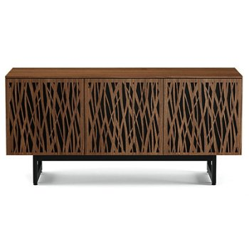 Shown in Natural Walnut finish, Triple-Width size, Wheat-Doors Pattern / Design, Media Base option