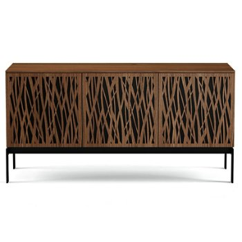 Shown in Natural Walnut finish, Triple-Width size, Wheat-Doors Pattern / Design, Console Base option