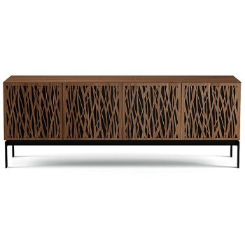 Shown in Natural Walnut finish, Quad-Width size, Wheat-Doors Pattern / Design, Console Base option