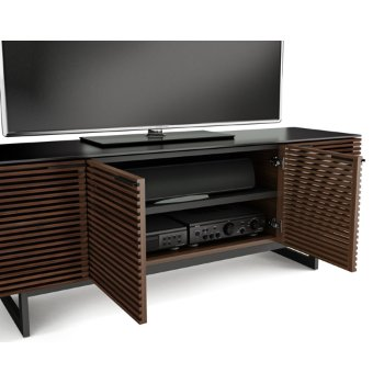 Shown in Chocolate Stained Walnut finish, Quad-Wide, in use