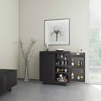Shown in Charcoal Stained Ash finish