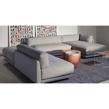Bumper Ottoman Tray with Bumper Ottoman, Sunday J Sectional Sofa and Common Leather Stool