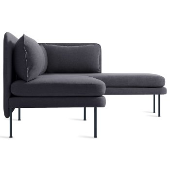 Shown in Rostenkowski Blue color, Chaise on Left Position