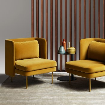 Bloke Lounge Chair with Swole Small Side Table