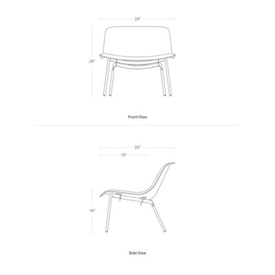 Outstanding Nonesuch Lounge Chair By Blu Dot At Lumens Com Creativecarmelina Interior Chair Design Creativecarmelinacom