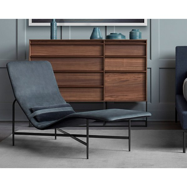 Deep Thoughts Leather Chaise
