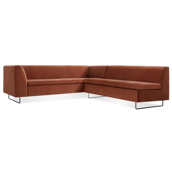 Bonnie and Clyde Velvet Sectional Sofa