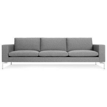 Shown in Spitzer Grey, White leg finish, Large size