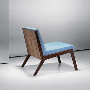 Shown in Walnut: 860 finish, Focus: Lagoon color, Back view
