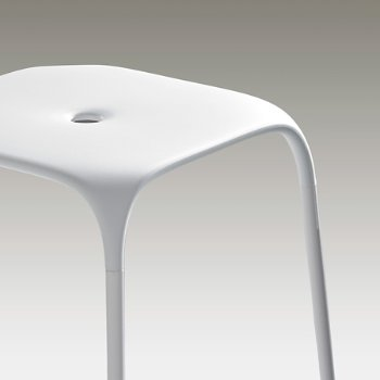 Shown in White with Matching Frame finish, Detail view