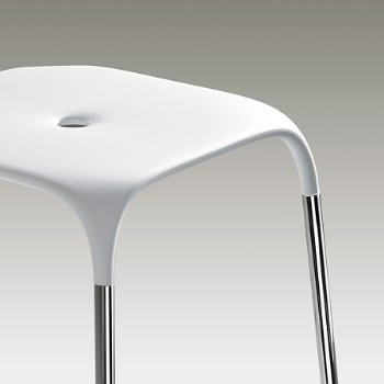 Shown in White with Polished Chrome Frame finish, Detail view