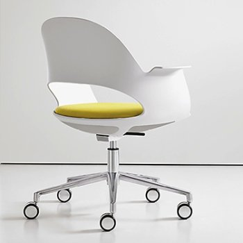 Shown in Mist / Polished Aluminum with Focus / Citrus upholstered seat