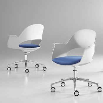 Shown in Mist / Polished Aluminum with Focus / Lagoon upholstered seat