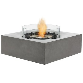 Shown in Natural finish (burner exposed, glass shield sold separately)