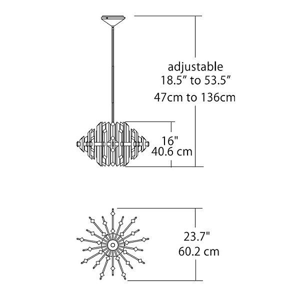 Facets LED Chandelier