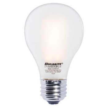 7W 120V A19 E26 LED Filament Frosted Bulb