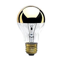 60W 120V A19 E26 Half Gold Bulb