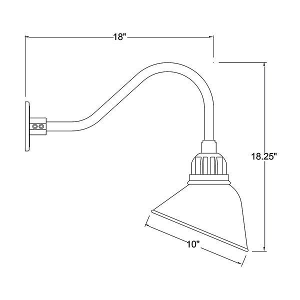 Angle Shade Indoor/Outoor Wall Sconce