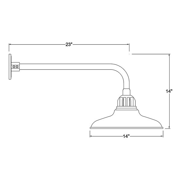 Shallow Reflector Indoor/Outoor Wall Sconce