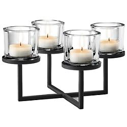 NERO Tealight Holder With Chandelier Base